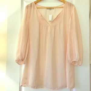 LOFT Delicate Soft Pink Tunic